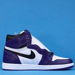 """Air Jordan 1 High """"Court Purple"""" White Purple 555088-500 40-46"""