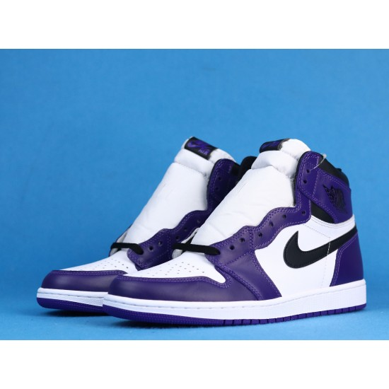 Air Jordan 1 High Court Purple White Purple 555088-500 40-46