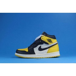 "Air Jordan 1 High ""Yellow Toe"" Black Yellow AR1020-700 40-46"