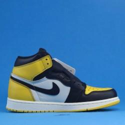 """Air Jordan 1 High """"Yellow Toe"""" Black Yellow AR1020-700 40-46"""