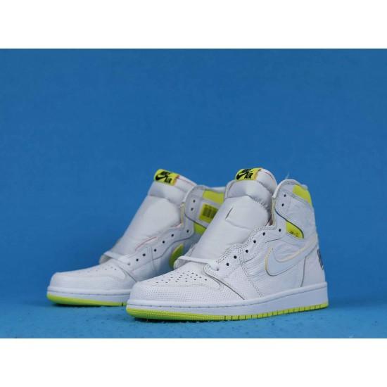 """Sale Air Jordan 1 High """"First Class Flight"""" White Green 555088-170 40-46 Shoes"""