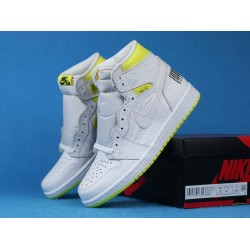 "Air Jordan 1 High ""First Class Flight"" White Green 555088-170 40-46"