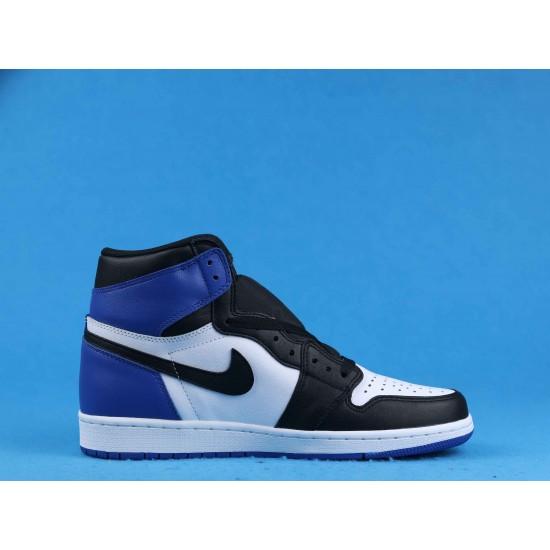 "Sale Air Jordan 1 High ""Fragment"" White Black Blue 716371-040 40-46 Shoes"