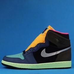"Air Jordan 1 High OG ""Bio Hack"" Brown Blue Black 555555-201 40.5-47"