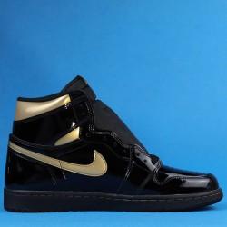 "Air Jordan 1 High OG ""Black Metallic Gold"" Black Gold 555088-032 40.5-47"