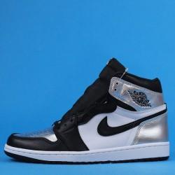 "Air Jordan 1 High OG ""Silver Toe"" Black Silver CD0461-001 40.5-47"