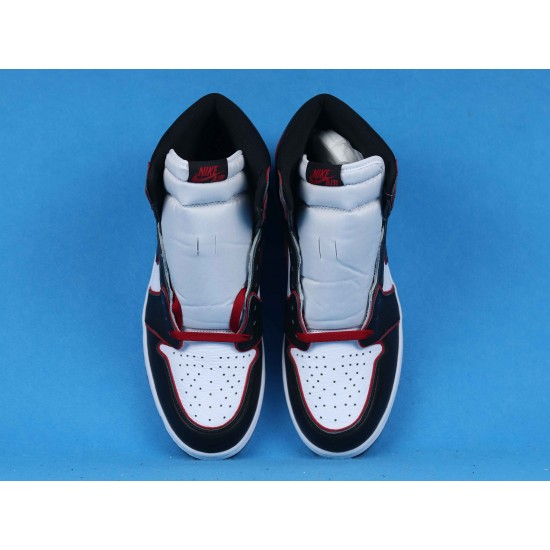 """Sale Air Jordan 1 High OG """"Meant To Fly"""" Black Red White 555088-062 40-46 Shoes"""