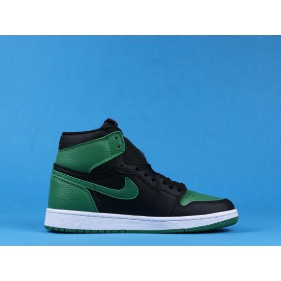 "Sale Air Jordan 1 High ""Pine Green"" Black Green 555088-030 40-46 Shoes"