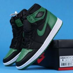 """Air Jordan 1 High """"Pine Green"""" Black Green 555088-030 40-46"""