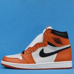 """Air Jordan 1 High """"Reversed Shattered Backboard Away"""" White Orange 555088-113 40-46"""