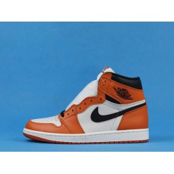 "Air Jordan 1 High ""Reversed Shattered Backboard Away"" White Orange 555088-113 40-46"