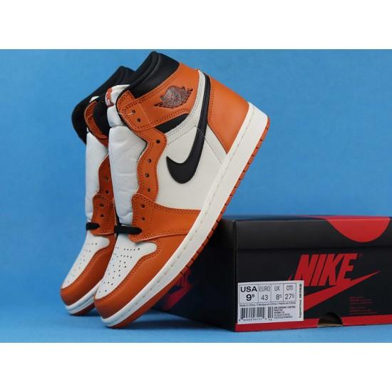 "Sale Air Jordan 1 High ""Reversed Shattered Backboard Away"" White Orange 555088-113 40-46 Shoes"