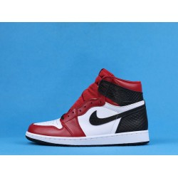 "Air Jordan 1 High ""Satin Snake"" White Black Red CD0461-601 40-47"
