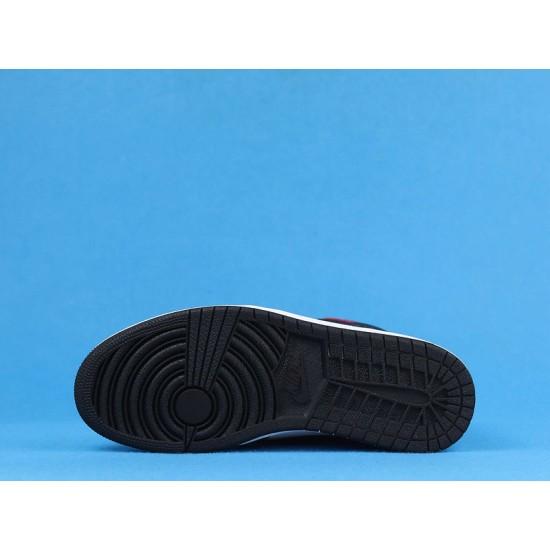 "Sale Air Jordan 1 High ""Satin Snake"" White Black Red CD0461-601 40-47 Shoes"