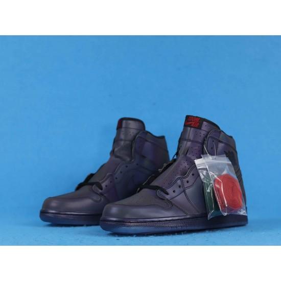"Sale Air Jordan 1 High Zoom R2T ""Fearless"" Triple Black BV0006-900 40-46 Shoes"