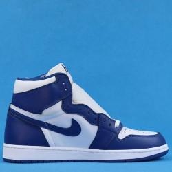"""Air Jordan 1 OG High """"Storm Blue"""" White Blue 555088-127 41-47"""