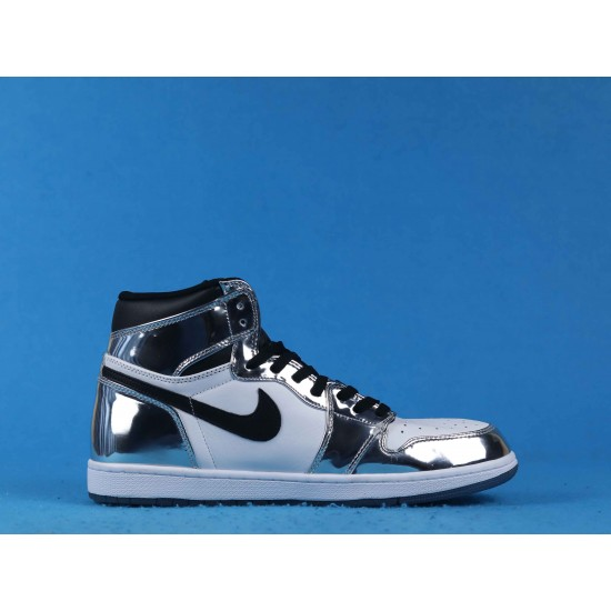"Sale Air Jordan 1 ""Pass The Torch"" Silver Black White AQ7476-016 40-46 Shoes"