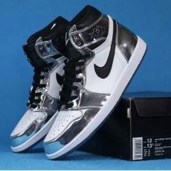 """Air Jordan 1 """"Pass The Torch"""" Silver Black White AQ7476-016 40-46"""