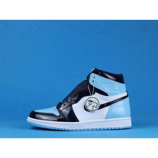 "Sale Air Jordan 1 Retro High ""Blue Chill"" Blue Black White CD0461-401 40-46 Shoes"