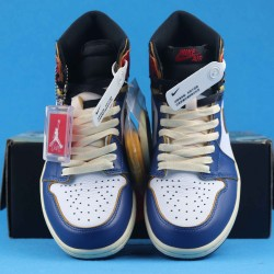 "Air Jordan 1 Retro High ""Storm Blue"" Nrgun Blue White Red BV1300-146 40-46"