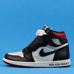 "Air Jordan 1 Retro High OG ""Not For Resale"" NRG Black Red White 861428-106 40-46"