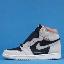 "Air Jordan 1 Retro High OG ""Neutral Grey"" Pink Gray Black 555088-018 40-46"