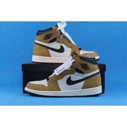 "Air Jordan 1 ""Rookie Of The Year"" Brown Black White 555088-700 40-46"