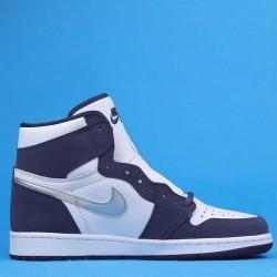 "Air Jordan 1 High Co.JP ""Midnight Navy"" Blue White DC1788-100 575441-141 36-47"