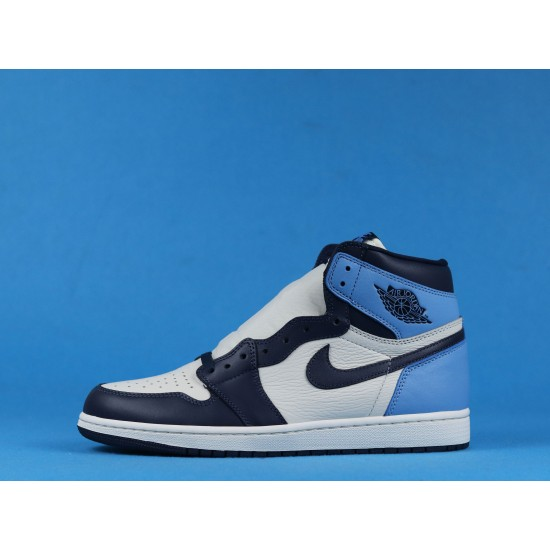 "Sale Air Jordan 1 High OG ""Obsidian"" Blue White 555088-140 36-46 Shoes"