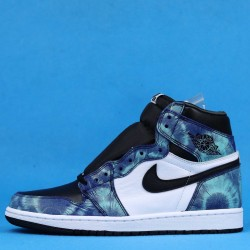 "Air Jordan 1 High OG WMNS ""Tie-Dye"" Blue Black White CD0461-100 36-46"