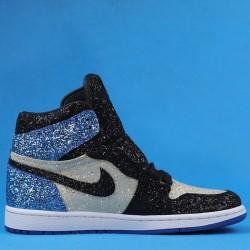 """Air Jordan 1 High OG """"Glitter"""" White Blue Black CK5566-400 36-47"""
