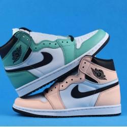 "Air Jordan 1 Retro High OG ""Mismatch Perforated"" Pink Green White 555441-889 36-46"