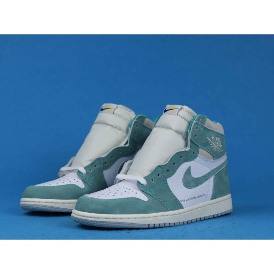 "Sale Air Jordan 1 Retro High ""Turbo Green"" White Green 555088-311 36-46 Shoes"