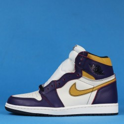 "Air Jordan 1 SB Retro High GS ""LA to Chicago"" Purple White Yellow CD6578-507 36-46"