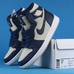 "Air Jordan 1 WMNS High Premium ""Light Cream"" Blue White AQ9131-401 36-46"
