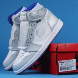 """Dior x Air Jordan 1 High Zoom """"Racer Blue"""" Gray White CK6637-104 36-46"""