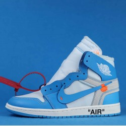 "Off White x Air Jordan 1 ""UNC"" Blue White AQ0818-148 36-46"
