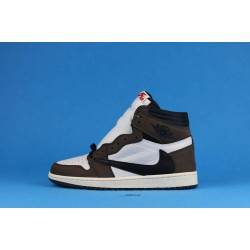 "Travis Scott x Air Jordan 1 High OG TS SP ""Mocha"" Brown White Black CD4487-100 36-46"