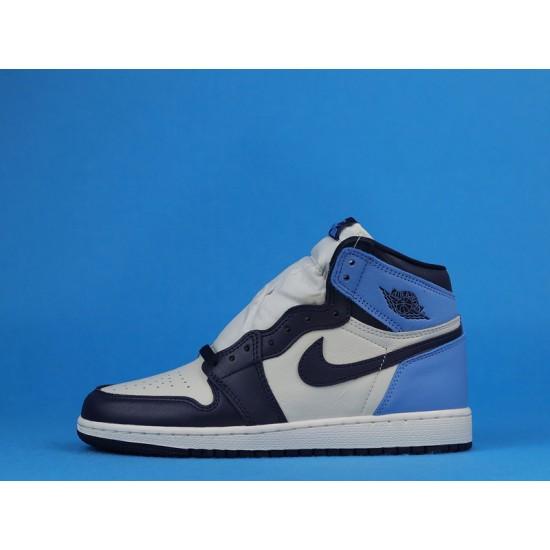 """Sale Air Jordan 1 High """"Obsidian"""" Blue White 575441-140 36-40 Shoes"""