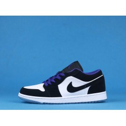 "Air Jordan 1 Low ""Concord"" Black Purple White 553558-108 36-46"