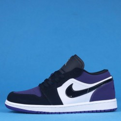 "Air Jordan 1 Low ""Court Purple"" Black Purple 553558-125 36-46"
