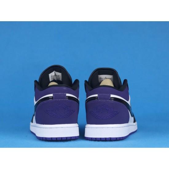Air Jordan 1 Low Court Purple Black Purple 553558-125 36-46
