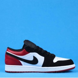 "Air Jordan 1 Low ""Black Toe"" Red Black White 553558-116 36-46"