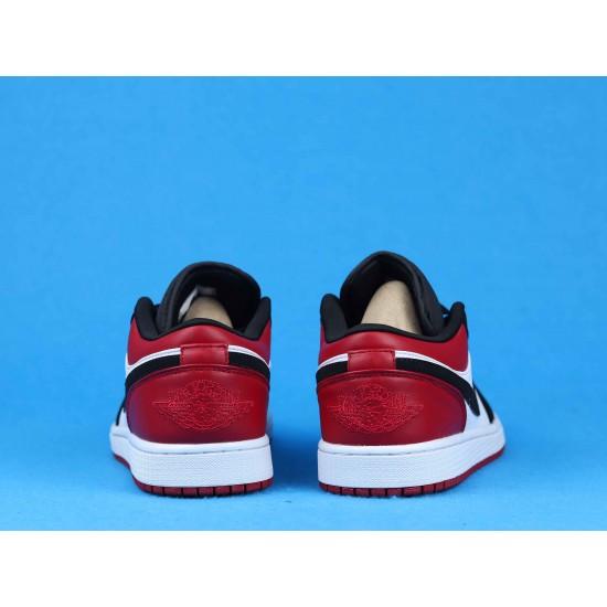 Air Jordan 1 Low Black Toe Red Black White 553558-116 36-46