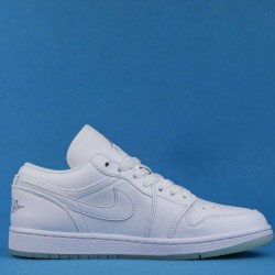 "Air Jordan 1 Retro Low ""White"" White Silver 309192-111 36-46"