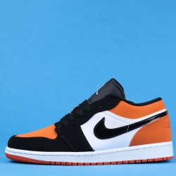 "Air Jordan 1 Low ""Shattered Backboard"" Orange Black White 553558-128 40-46"