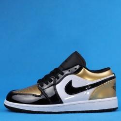 "Air Jordan 1 Low ""Gold Toe"" Black Gold CQ9447-700 36-46"