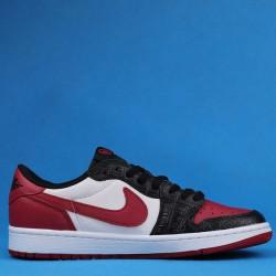 """Air Jordan 1 Low """"Hi-Res"""" Black Red CW0192-200 36-46"""