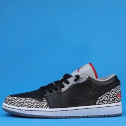 "Air Jordan 1 Low ""Black Cement"" Black White 350571-061 36-46"
