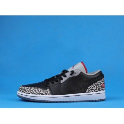 "Air Jordan 1 Low ""Black Cement"" Black White 350571-061 36-46"